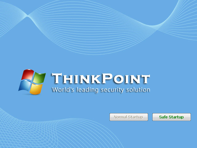 """ThinkPoint"" rogue antivirus startup screenshot"