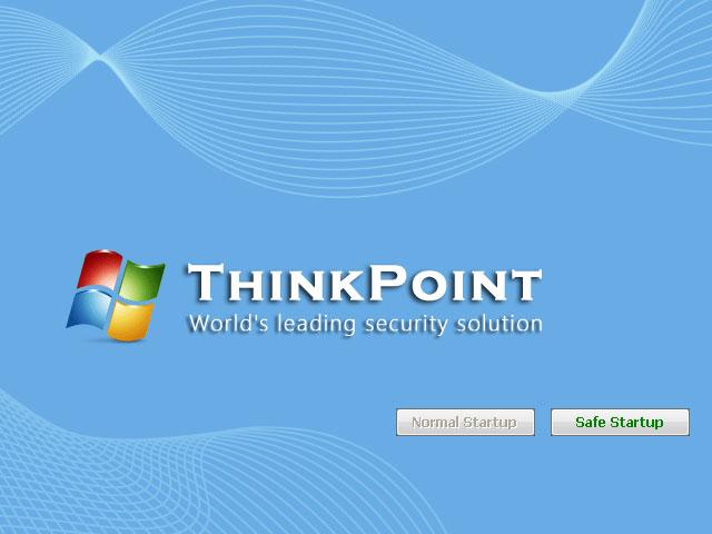 """""""ThinkPoint"""" rogue antivirus startup screenshot"""